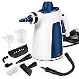 Steam Cleaner, Portable Car Carpet Upholstery Cleaner Machine High Pressure Steamer with 9 Piece...