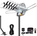 Outdoor Antenna - Amplified Digital HDTV Antenna 150 Miles Range 360 Degree Rotation- Support...