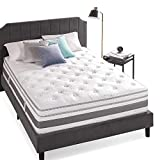 Zinus 14 Inch Gel Memory Foam Pocket Spring Hybrid Mattress / Pocket Innersprings for Motion...