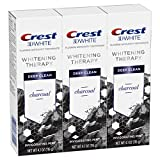 Crest Charcoal 3D White Toothpaste, Whitening Therapy Deep Clean with Fluoride, Invigorating Mint,...