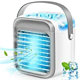Portable Air Conditioner, Rechargeable Evaporative Air Conditioner Fan with 3 Speeds 7 Colors,...