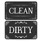 ENVIX Dishwasher Magnet Clean Dirty Sign Double Sided Magnet Flip with Magnetic Plate Kitchen Dish...