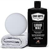 CAR GUYS Liquid Wax - The Ultimate Car Wax Shine with Polymer Paint Sealant Protection! - 16 Oz Kit