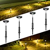 LITOM Solar Pathway Lights Outdoor, 3 Lighting Modes Wireless Solar LED Landscape Lights, IP65...