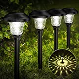 Balhvit Glass Solar Lights Outdoor, 8 Pack Super Bright Solar Pathway Lights, Up to 12 Hrs Long Last...