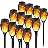 KYEKIO Upgraded 12Pack Torches, Solar Lights Outdoor, 12LED Solar Torch Lights with Dancing...