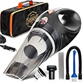 THISWORX Car Vacuum Cleaner - Portable, High Power, Handheld Vacuums w/ 3 Attachments, 16 Ft Cord &...