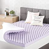 Best Price Mattress 3 Inch Egg Crate Memory Foam Topper, Mattress Pad with Soothing Lavender...