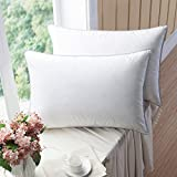 WENERSI Premium Goose Down Pillows with Feather Blended (2-Pack, Queen Soft) 100% Cotton Shell with...