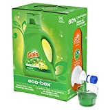 Gain Liquid Laundry Detergent Soap Eco-Box, Ultra Concentrated High Efficiency (HE), Original Scent,...