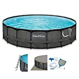Summer Waves Elite P4A02048B 20ft x 48in Above Ground Frame Swimming Pool Set w/Filter Pump, Pool...