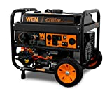 WEN DF475T Dual Fuel 120V/240V Portable Generator with Electric Start Transfer Switch Ready,...