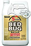 HARRIS 5 Minute Bed Bug Killer with Odorless and Non-Staining Formula, 128 oz