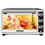 Air Fryer, Homuz 7 In 1 Toaster Oven Oilless Cooker Air Fryer Oven with 7 Cooking Functions, 1500W...