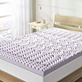 Best Price Mattress 3 Inch 5-Zone Memory Foam Mattress Topper, Soothing Lavender Infusion,...