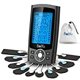 Belifu Dual Channel TENS EMS Unit 24 Modes Muscle Stimulator for Pain Relief Therapy, Electronic...