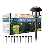 ExcMark 10 Pack Solar Lights Outdoor Decorative, Solar Pathway Lights Outdoor, Solar Powered Garden...