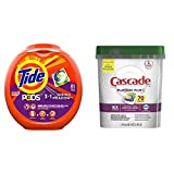 Tide Pods 3 in 1, Laundry Detergent Pacs, Spring Meadow Scent, 81 Count with Cascade Platinum Plus...