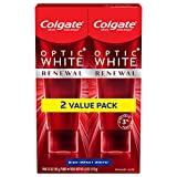Colgate Optic Renewal Teeth Whitening Toothpaste with Fluoride, 3% Hydrogen Peroxide, High Impact,...