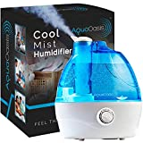 AquaOasis Cool Mist Humidifier {2.2L Water Tank} Quiet Ultrasonic Humidifiers for Bedroom & Large...