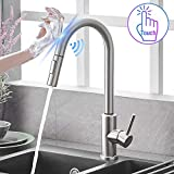 Qomolangma Touch Sensor Kitchen Faucets with Pull Down Sprayer, Touch On Single Handle Kitchen Sink...