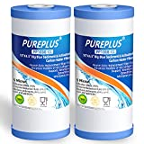 PUREPLUS 5 Micron 10' x 4.5' Whole House Big Blue Sediment and Activated Carbon Water Filter...
