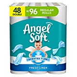 Angel Soft Toilet Paper with Fresh Linen Scent, 48 Double Rolls= 96 Regular Rolls, 200+ 2-Ply Sheets...