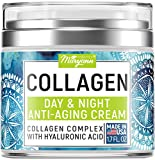 Maryann Organics Collagen Cream - Anti Aging Face Moisturizer - Day & Night - Made in USA - Natural...