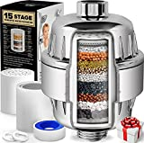 AquaHomeGroup 15 Stage Shower Filter with Vitamin C for Hard Water - High Output Shower Water Filter...
