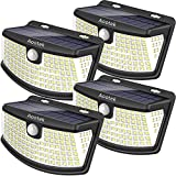 Aootek New solar lights 120 Leds upgraded with lights reflector,270° Wide Angle, IP65 Waterproof,...