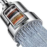 Filtered Shower Head, 3 Modes High Pressure Shower Head with 15 Stage Hard Water Shower Filter...