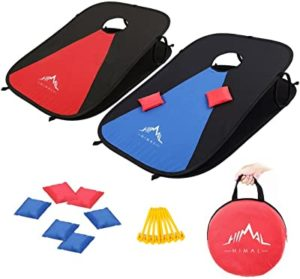 Himal Cornhole boards with bean bags for travelling